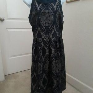 Blue tan dress